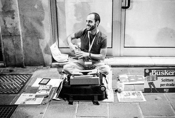 Walter Lazzarin, scrittore per strada