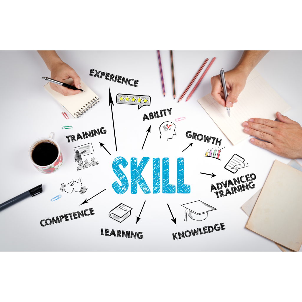 Life Skill - Experience - Ability - Growth -Advanced Training - Knowledge - Learning - Competence - Training